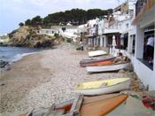 Boote am Strand, Costa Brava