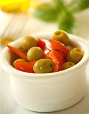 Oliven mit Paprika - Restaurants Empuriabrava, Costa Brava