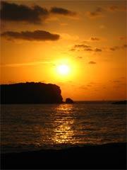 Sonnenuntergang auf der spanischen Insel Ibiza